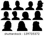 Set Of Men And Women Heads