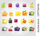 fruit icons set   isolated on... | Shutterstock .eps vector #139736446