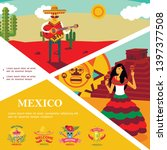 flat mexico colorful template...   Shutterstock .eps vector #1397377508