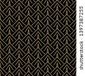 art deco seamless pattern... | Shutterstock .eps vector #1397387255