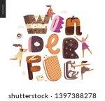 dessert lettering   wonderful   ... | Shutterstock .eps vector #1397388278