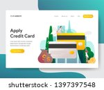 landing page template of apply... | Shutterstock .eps vector #1397397548