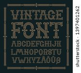 cintage classic font with... | Shutterstock .eps vector #1397401262