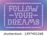 vector lettering composition... | Shutterstock .eps vector #1397401268