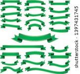 set of green vintage ribbon... | Shutterstock .eps vector #1397431745
