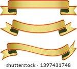 set of gold vintage ribbon... | Shutterstock .eps vector #1397431748