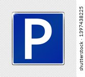 parking spot sign   blue... | Shutterstock .eps vector #1397438225