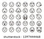 emoticons outline. emoji faces... | Shutterstock . vector #1397444468