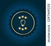 light bulb gold logo concept....