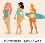 vector cartoon girls in...   Shutterstock .eps vector #1397471255