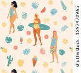 Seamless Vector Pattern Girls...