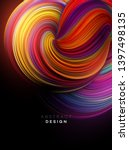 color flow abstract shape... | Shutterstock .eps vector #1397498135