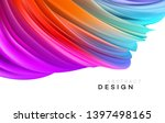 color flow abstract shape... | Shutterstock .eps vector #1397498165