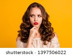 close up portrait of her she... | Shutterstock . vector #1397506022