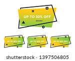 up to 50  off. set of four lime ... | Shutterstock .eps vector #1397506805