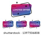 limited offer. set of four... | Shutterstock .eps vector #1397506808