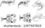 hand painting with shrimp...   Shutterstock .eps vector #1397507825