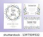 floral wedding invitation.... | Shutterstock .eps vector #1397509532