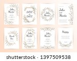 floral wedding invitation.... | Shutterstock .eps vector #1397509538