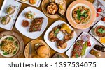 assorted foodset from barbecue... | Shutterstock . vector #1397534075