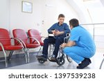 male doctor taking care of...   Shutterstock . vector #1397539238