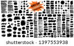 Stock vector brush strokes bundle vector paintbrush set circle frames round grunge design elements rectangle 1397553938