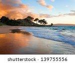 Tropical Beach In Maui  Hawaii