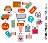 illustration of icon e commerce ... | Shutterstock .eps vector #1397558018