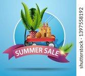 summer sale  round discount... | Shutterstock .eps vector #1397558192