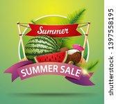 summer sale  round discount... | Shutterstock .eps vector #1397558195