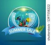 summer sale  round discount... | Shutterstock .eps vector #1397558222