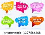 vector set of trendy graphic... | Shutterstock .eps vector #1397566868