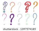 question marks colored... | Shutterstock .eps vector #1397574185