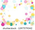 memphis round confetti airy... | Shutterstock .eps vector #1397579342