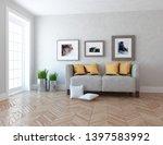 idea of a white scandinavain...   Shutterstock . vector #1397583992