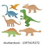 dinosaurs flat icon set ... | Shutterstock .eps vector #1397619272