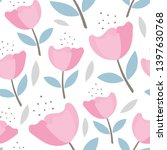 seamless floral pattern for... | Shutterstock .eps vector #1397630768