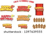signage for birthday farm or... | Shutterstock .eps vector #1397639555