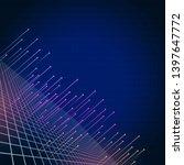 digital tech background in dark ...   Shutterstock . vector #1397647772