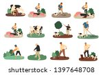 set of farmers and agricultural ... | Shutterstock .eps vector #1397648708