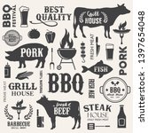 barbecue  steak house...   Shutterstock .eps vector #1397654048