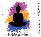 illustration of buddha purnima... | Shutterstock .eps vector #1397655518