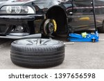 disassembled car wheel in the...   Shutterstock . vector #1397656598