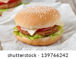 anerican cheeseburger on the... | Shutterstock . vector #139766242