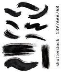 set of black ink different... | Shutterstock . vector #1397666768