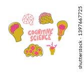 cognitive science concept.... | Shutterstock .eps vector #1397667725