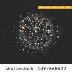 New Year Shiny Silver Clock ...