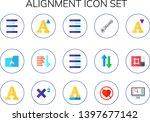 alignment icon set. 15 flat...   Shutterstock .eps vector #1397677142