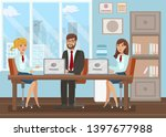 conference room meeting flat... | Shutterstock .eps vector #1397677988