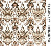seamless vintage wallpaper.... | Shutterstock .eps vector #1397684558